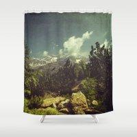 Italian Mountains Shower Curtain