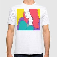 FIONA APPLE Mens Fitted Tee Ash Grey SMALL