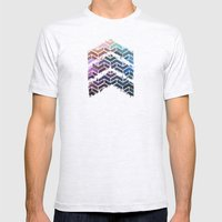 Chevron IKat Mens Fitted Tee Ash Grey SMALL