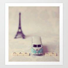 Way to Paris  Art Print