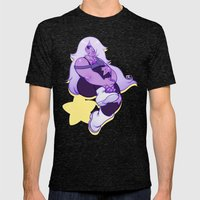 Amethyst Mens Fitted Tee Tri-Black SMALL