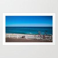 Beach And The Bike - Nic… Art Print