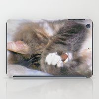 My Cat Actually Sleeps This Way iPad Case
