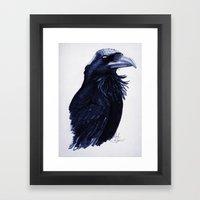 .Raven Framed Art Print