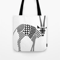 Tote Bag featuring impala by Panic Junkie