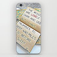 Stopping by woods - Robert frost iPhone & iPod Skin
