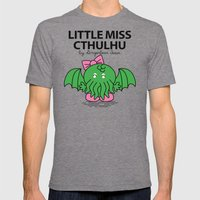 Little Miss Cthulhu Mens Fitted Tee Tri-Grey SMALL