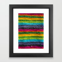 Rainbow In Wool Framed Art Print