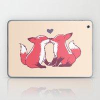 Fox Kisses Laptop & iPad Skin