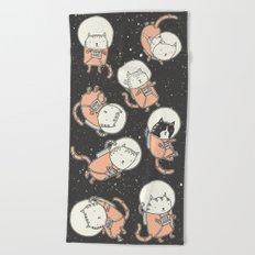 Cat-Stronauts Beach Towel