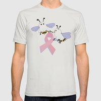 Flight Of The Boobee Mens Fitted Tee Silver SMALL