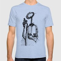 Trust With No Head And Half Finger! Mens Fitted Tee Athletic Blue SMALL
