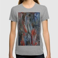 Untitled Abstract #6 Womens Fitted Tee Athletic Grey SMALL