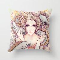 Flotsam and Jetsam Throw Pillow
