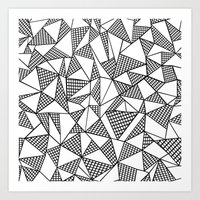 Abstraction Partial Grid Art Print
