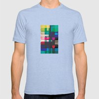 Circleton Mens Fitted Tee Tri-Blue SMALL