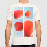 Poppies Mens Fitted Tee Natural SMALL