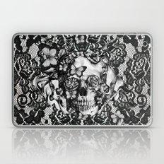 Rose Skull On Black Lace… Laptop & iPad Skin