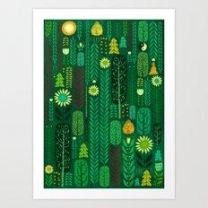 Sacred Forest (Portrait) Art Print