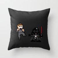 Pixel Wars Throw Pillow