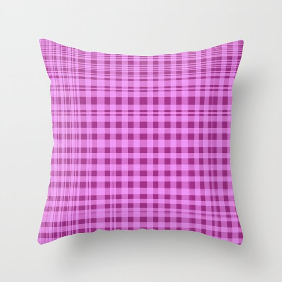 Purple Checkers. Throw Pillow