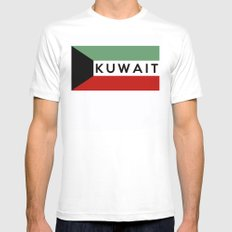flag of Kuwait Mens Fitted Tee White SMALL