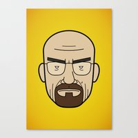 Faces of Breaking Bad: Walter White Canvas Print