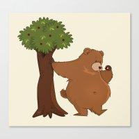 Bear And Madrono Canvas Print