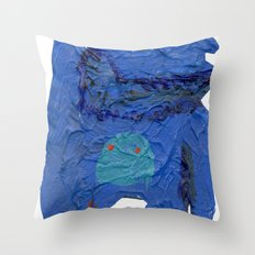 el monstro azul Throw Pillow