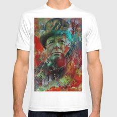 Churchill Mens Fitted Tee White SMALL