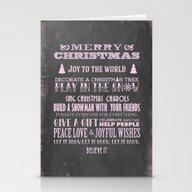 Pink Christmas Chalkboar… Stationery Cards
