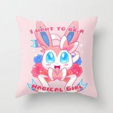 Magical Girl Sylveon Throw Pillow