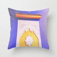Majorelle Blue Throw Pillow