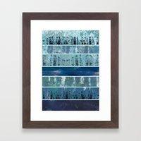 Abstract Sea City Framed Art Print