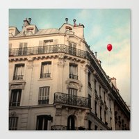 Canvas Print featuring Balloon Rouge by Alicia Bock