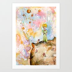 The little prince on the planet Art Print
