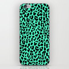 Neon Mint Leopard iPhone & iPod Skin