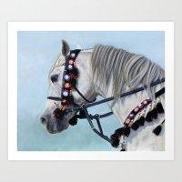 Arabian Horse Portrait Art Print