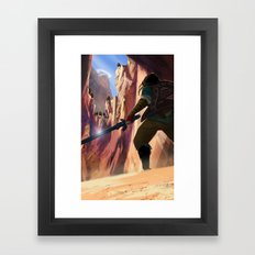 Death Mountain Framed Art Print