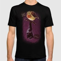 Bat and Robin Mens Fitted Tee Black SMALL