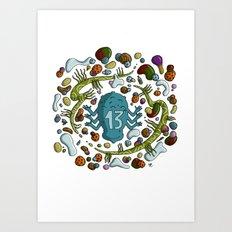 Numéro 13 Art Print
