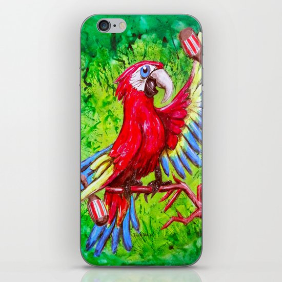 Tropical Parrot with Maracas  iPhone & iPod Skin