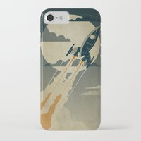 retro iPhone & iPod Cases featuring Night Launch by The Art of Danny Haas