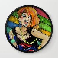 True Colors- Cyndi Laupe… Wall Clock