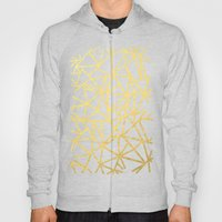 Abstract Outline Thick Gold Hoody