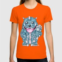 ieggy Womens Fitted Tee Orange SMALL