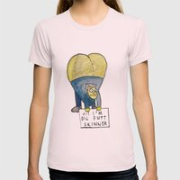 HI! I'M BIG BUTT SKINNER Womens Fitted Tee Light Pink SMALL