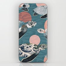 Sea Turtle Polka iPhone & iPod Skin
