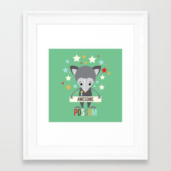 Awesome Possum Framed Art Print