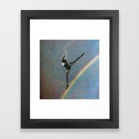 flying dance 2 Framed Art Print